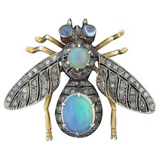 9K Gold Jeweled Bee Pin - Red Tag Sale Item
