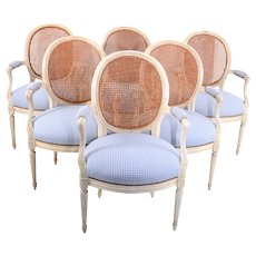 French Provincial Set of Six Dining Chairs