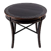 American Classical Style Ebonized Wood Round Table
