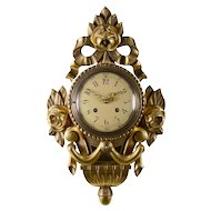 Gilt Wood and Gesso Cartel Clock