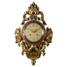 Gilt Wood and Gesso Cartel Clock