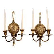 Gilt Candle Holder Wall Sconces