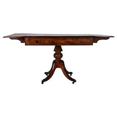 English Regency Mahogany Drop Side Table