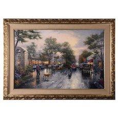 Thomas Kinkade Lithograph Carmel California Street Scene
