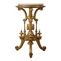 Onyx Topped Carved Gilt Table