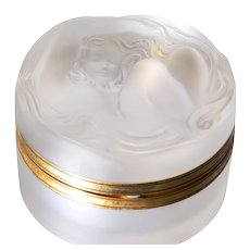 Lalique Daphne Crystal Powder Jar