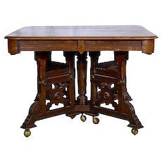 Eastlake Walnut Dining Table