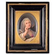 KPM Hand Painted Porcelain Portrait Signed by Artist