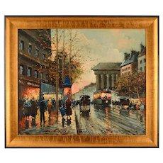 "Antoine Blanchard ""Boulevard De La Madeleine"""