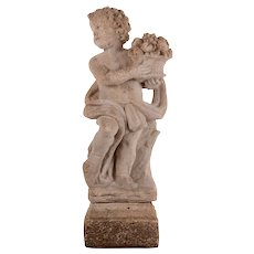 Putti Cast Stone Garden Statue