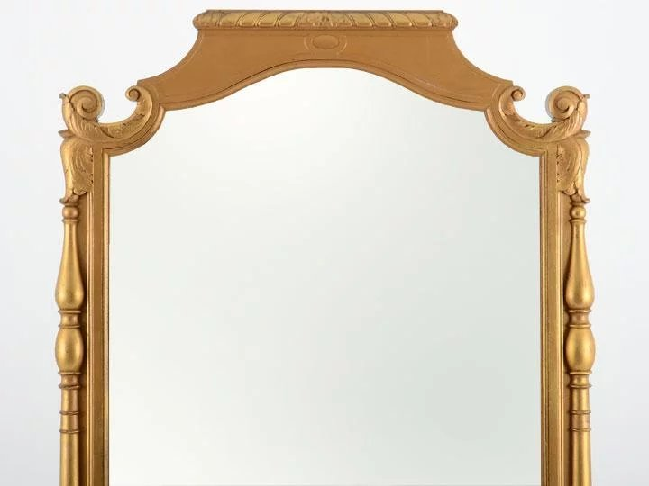 French Gilt Double Sided Floor Mirror : Solvang Antiques | Ruby Lane