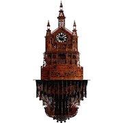 ME Lamp Gothic Hand Cut Fretwork Bracket Clock