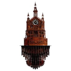 ME Lamp Gothic Hand Cut Fretwork Bracket Clock