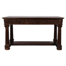 Carved Empire Style Library Table