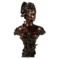 Gilt Bronze Bust of Young Woman