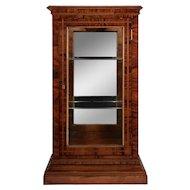 Art Deco Walnut Curio Cabinet
