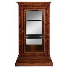 Art Deco Walnut Curio Cabinet