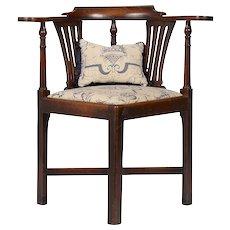 Upholstered Oak Corner Chair