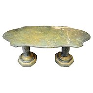 Italian Turtle Top Marble Table