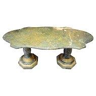 Italian Turtle Top Marble Table