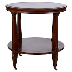 Leather Topped Mahogany Side Table