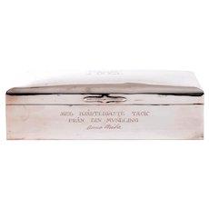 Carl Hoff Silver Monogrammed Engraved Cigar Box