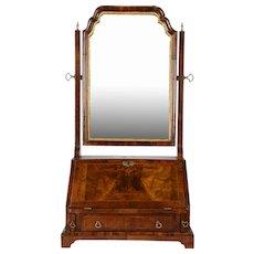 Swivel Dressing Mirror with Drop Front Door