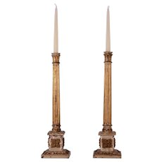 Neoclassical Wooden Candle Stands