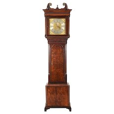 English Rare Moon Phase Jeremiah Standing Tall Case Clock