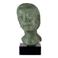 Dora Gordine Patinated Bronze Bust of a Child