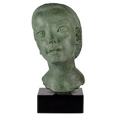 Dora Gordine Patinated Bronze Bust of a Child