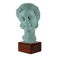 Dora Gordine Patinated Bronze Bust of a Woman