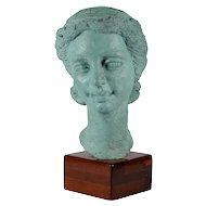 Dora Gordine Patinated Bronze Bust of a Woman