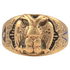 Masonic Double Eagle Scottish Rite Ring