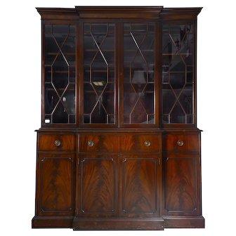 Regency Style Mahogany Secretary Bookcase