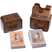 Piatinik & Sons Double Deck of Playing Cards With Wooden Case