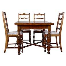 American Oak Dining Set