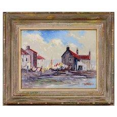 Bernard Shepro Village and Harbor Scene