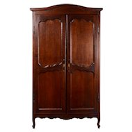Carved Oak Two Door Wardrobe