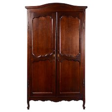 Carved Oak Two Door Wardrobe