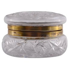 Cut Glass Powder Jar