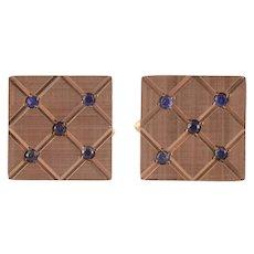 Sapphire Square Cufflinks