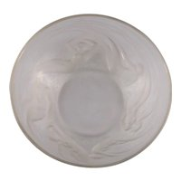 Lalique Ondines Frosted Glass Bowl