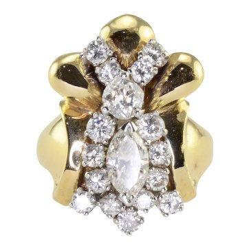 Marquise Center Diamond Fashion Ring