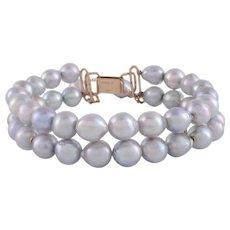 Blue Baroque Akoya Pearl Bracelet
