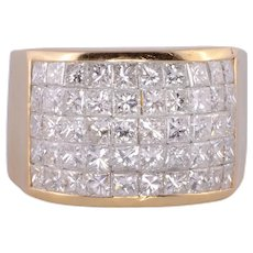 3.50 CTW Invisible Set Diamond Ring
