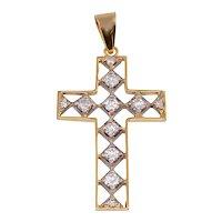1.0 CTW Diamond Cross Pendant