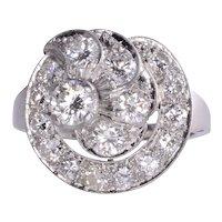Diamond Cluster Platinum Ring