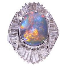 Gray Opal Platinum Ballerina Ring