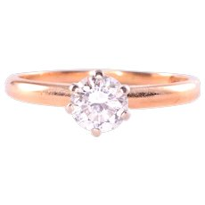 0.50 Carat Solitaire Diamond Ring